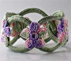 Chainmail crochet bracelet