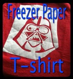 DIY Freezer Paper T-shirts! This design is perfect for any trip to Disney World ... but especially for Star Wars Weekends! | A Disney Mom's Thoughts