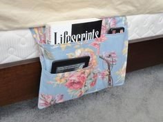 Fabric Bedroom Pocket Organizer Caddy by VermontCottageWorks