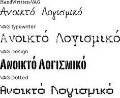Fonts VAG by simosx, via Flickr