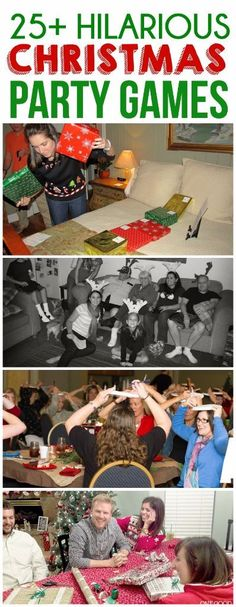 25 best christmas party games! These will get your friends and families laughing around the tree!