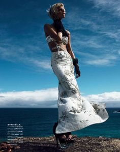 the mermaid's holiday: saskia de brauw by patrick demarchelier for vogue japan may 2012