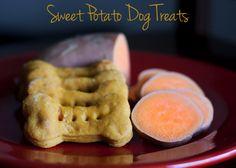 Sweet Potato and Peanut Butter Dog Bones