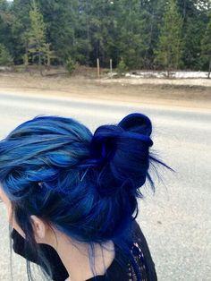 #dyed #hair #blue