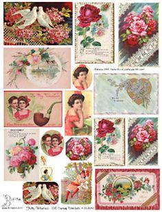 Collage Sheets Valentine Scrapbook Images