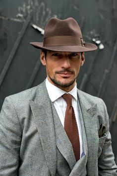 not my style but hes done well with it David Gandy, Mode Masculine, Dapper Dan, Vogue, Classic Man, Dress Codes, Hats For Men, Well Dressed, Beautiful Men
