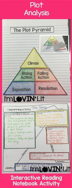 Plot Analysis Foldable, Plot Analysis Interactive Notebook Activity by Lovin' Lit from the ALL NEW Interactive Reading Literature Notebooks, Part 2