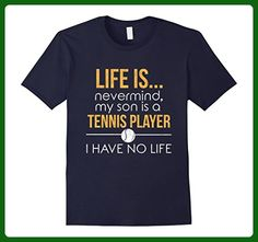 Mens My Son Is A Tennis Player T-shirt - Tennis Parent Shirt Large Navy - Sports shirts (*Amazon Partner-Link)