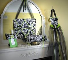 Zebra LIME green  Hair Bow Holder Tutu Photo by SoZoeyBoutique, $22.99