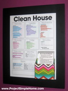 chore charts with boxes | Family Chore Cards as a companion to my Chore Chart ~ Project Simple ...