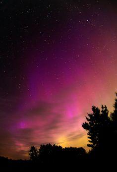 Northern lights over Beecher, Wisconsin