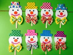 This Pin was discovered by Adr Clown Crafts, Circus Crafts, Carnival Crafts, Diy And Crafts, Crafts For Kids, Arts And Crafts, Preschool Crafts, Easter Crafts, Toilet Paper Roll Crafts