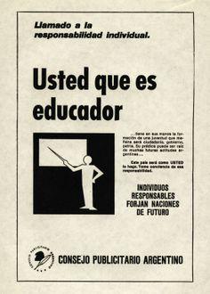 """""""Llamado a la responsabilidad individual 7""""-1970"""