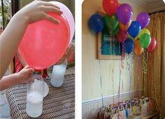 Balão cheio com gás de bicabornato!