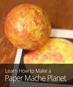 how to make a paper mache model of saturn
