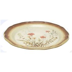 Mikasa Whole Wheat Jardinere Dinner Plate Vintage Stoneware Plate... ($13) ❤ liked on Polyvore featuring home, kitchen & dining, dinnerware, mikasa china, holiday dinnerware, vintage china, thanksgiving plates and leaf plates
