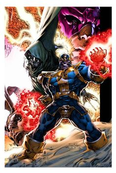 Thanos and other Marvel baddies
