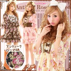 rose pattern one piece