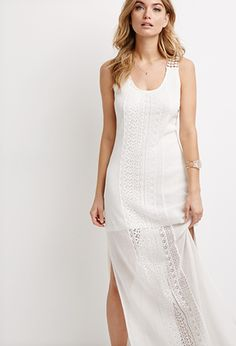 Lace-Paneled Knit Maxi Dress | Forever 21 - 2000097227