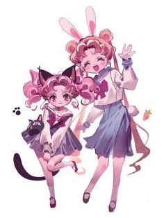 Sailor Moon Fan Art, Sailor Moon Usagi, Sailor Saturn, Sailor Moon Crystal, Sailor Moon Halloween, Anime Angel Girl, Sailor Moon Wallpaper, Cute Cartoon Drawings, Sailor Scouts