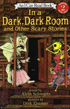 In a Dark, Dark Room and Other Scary Stories by Alvin Schwartz, Illustrated by Dirk Zimmer: One of my favorite books growing up! I Can Read Books, My Books, Alvin Schwartz, Haunted Graveyard, Horror Tale, Story Retell, Halloween Books, Halloween Stories, Vintage Halloween