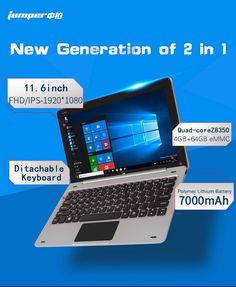 Jumper EZpad 6 tablet PC 11.6 Inch Windows 10 IPS 1920 x 1080 Intel Cherry Trail Z8350 4GB 64GB HDMI Bluetooth WiFi windows tablet LaptopShopping Guidelines1. About languages of OS  -- It supports multi-language.