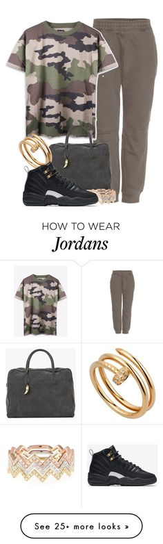 """""""Started from the bottom"""" by liberhty on Polyvore featuring adidas Originals, Balmain, Cartier, EF Collection and NIKE"""