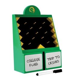 A mini Plinko to determine how to save your extra coinage.