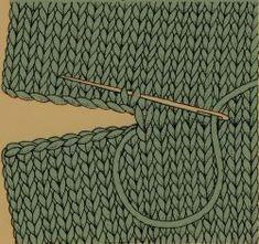 Stopfen von Nähten - Knitting Bordado - Her Crochet Diy Crafts Knitting, Loom Knitting, Knitting Socks, Free Knitting, Knitting Projects, Baby Knitting, Knitting Patterns, Crochet Patterns, Sewing Projects