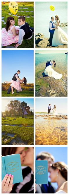 Engagement Photos vs. Wedding Photos. Similarities. Side-by-side. ♥