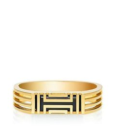 New! Tory Burch Gold fitbit flex metal hinged bracelet bangle stainless steel