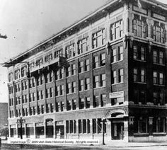Exterior of Ogden Standard Examiner's second home :: Utah State Historical Society - Classified Photographs
