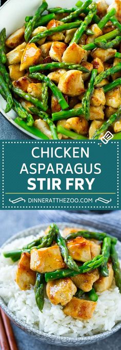 Chicken and Asparagus Stir Fry | Posted By: DebbieNet.com