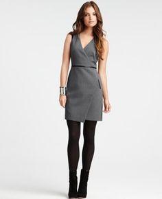 Loving this Ann Taylor dress....too bad I have like three grey Ann Taylor dresses already.