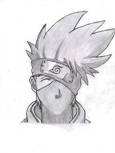 Simple kakashi head drawing- his smile is so sweet Naruto Sketch, Naruto Art, Anime Sketch, Anime Naruto, Naruto Drawings Easy, Anime Drawings Sketches, Easy Drawings, Kakashi Drawing, Anime Character Drawing