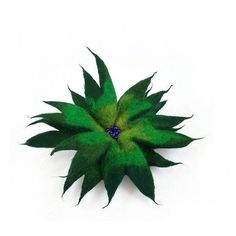 Felted Brooch nunofelt flower green nunofelt olive jade folk boho wool... ($25) ❤ liked on Polyvore