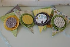 Baby Boy Party or Shower Bunting Banner, Blue Accordion Style via Etsy