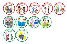 Agora... Senhora!: Placas de Regras para Crianças (tipo Super Nanny)                                                                                                                                                     Mais Regras Super Nanny, Digital Scrapbook Paper, Classroom, Education, Topper, Cup Cakes, Naruto, Maternity, Ideas