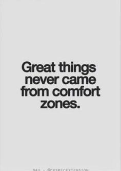 Sometimes you have to jump out of your comfort zone to experience life.