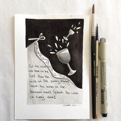 The Hobbit-inspired #inktober sketch #2! 10.02.15 #arhsketches Copyright Amalia Hillmann