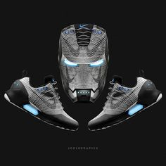 #IronMan War Machine meets @nike newest self-lacing #hyperadapt shoe | plan to cop this fall? Sneakers Nike, Sneakers Fashion, Nike Trainers, Shoes Jordans, Custom Shoes, Nike Shoes Outlet, Basketball Shoes, Air Jordan, Jordan Swag