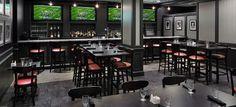 Draft bar at Holiday Inn Boston Somerville:  Big screen TV's, upscale sports bar atmosphere, fantastic food, tasty drinks!