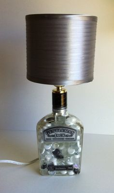 Upcycled/Recycled GENTLEMAN JACK Whiskey Liquor Bottle Lamp    my kinda lamp!