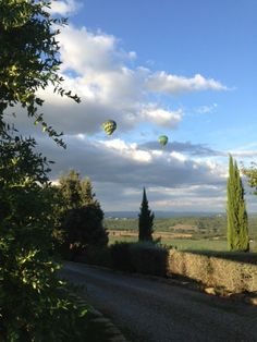 Hot air balloons in Italy..