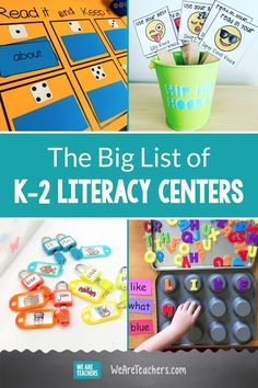 The Big List of K–2 Literacy Centers