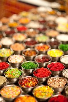 Mukhwaas - Colourful Indian after-meal snack or digestive aid. It can be made of various seeds but often found with fennel seeds, anise seeds, coconut, and sesame seeds. They are sweet in flavour and highly aromatic due to added sugar and the addition of various essential Indian oils, including peppermint oil. Plain water drunk after chewing and consuming the fennel seeds contained therein tastes sweet. It is often eaten for medicinal purposes- part of Ayurveda - ancient Indian medicine…