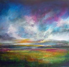 """Saatchi Art is pleased to offer the painting, """"Abstract Landscape 20 (SOLD),"""" by Tracy-Ann Marrison. Original Painting: Acrylic on Canvas. Landscape Artwork, Abstract Landscape Painting, Abstract Oil, Pastel Art, Ciel, Land Scape, Painting Inspiration, Art Projects, Saatchi Art"""