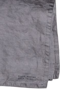Washed Linen Napkin - Dark gray - Home All Linen Napkins, Pants, Trouser Pants, Women's Pants, Women's Bottoms, Trousers
