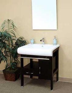 """28"""" Bellaterra Home Bathroom Vanity 202117B #BellaterraHome #HomeRemodel #BathroomRemodel #BlondyBathHome #BathroomVanity"""