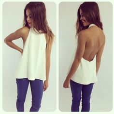 great structured backless top